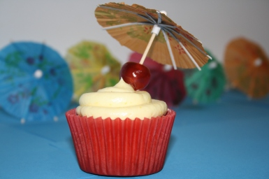 Sex on the beach cupcake