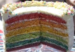 Pastel Rainbow Cake