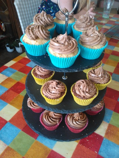 Chocolate and 'something' cupcakes