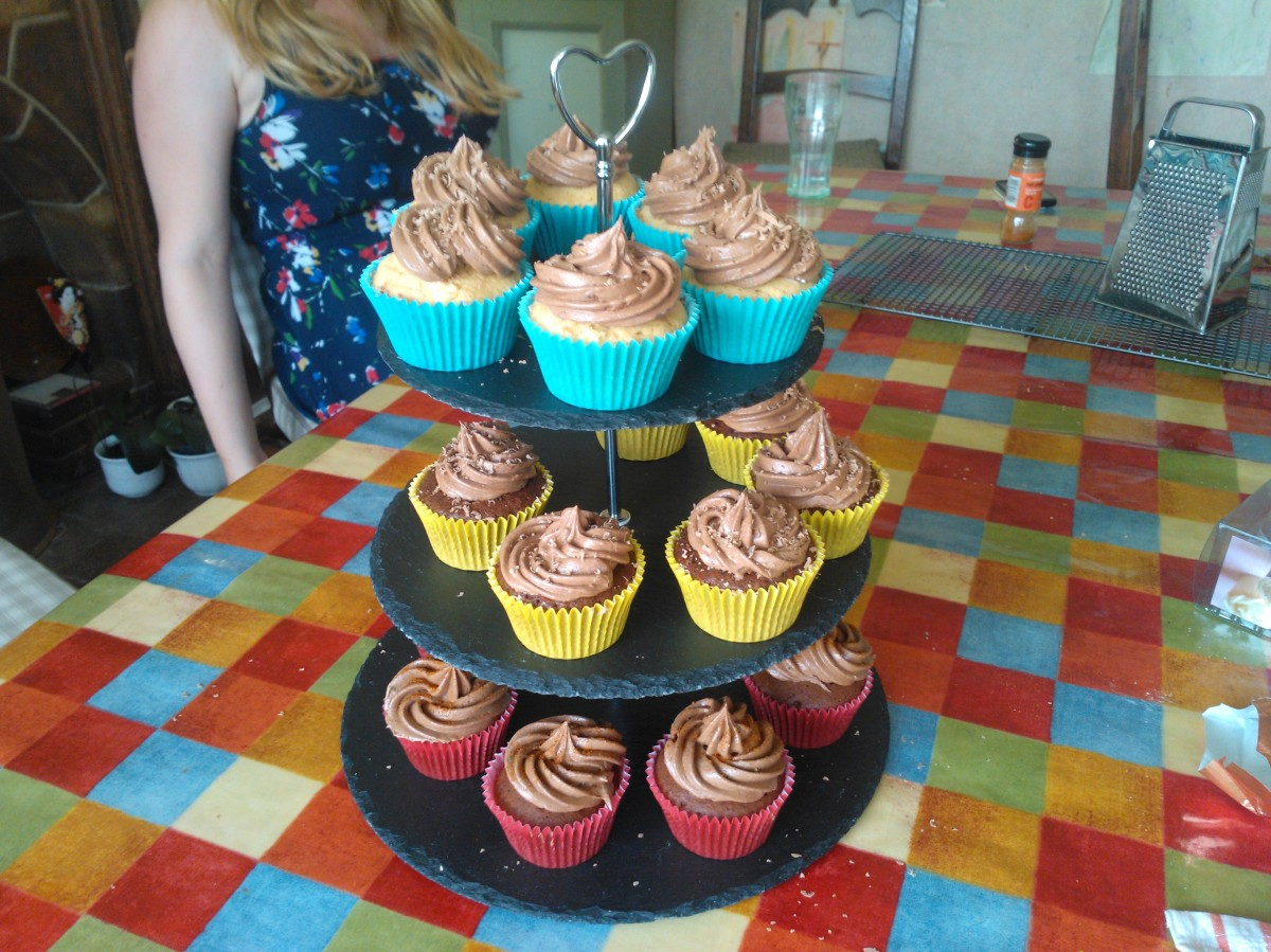 Chocolate and Peanut Butter, Chocolate and Caramel and Chocolate and Chilli Cupcakes