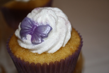 Violet and Raspberry cupcakes