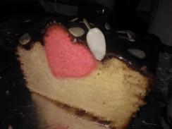Valentines heart cake
