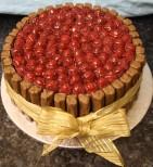 Raspberry Twirl Cake