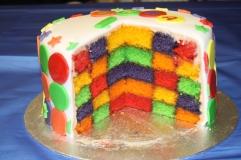 Skittles chequerboard Cake