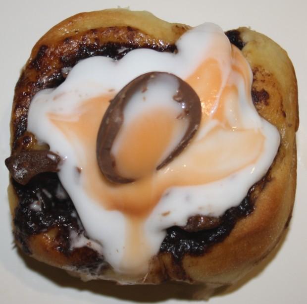 Creme Egg Chelsea Bun