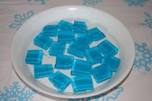 'Ice' block jelly